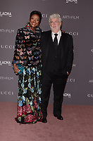 LOS ANGELES, CA - NOVEMBER 04: Mellody Hobson, George Lucas at the 2017 LACMA Art + Film Gala Honoring Mark Bradford And George Lucas at LACMA on November 4, 2017 in Los Angeles, California. <br /> CAP/MPI/DE<br /> &copy;DE/MPI/Capital Pictures