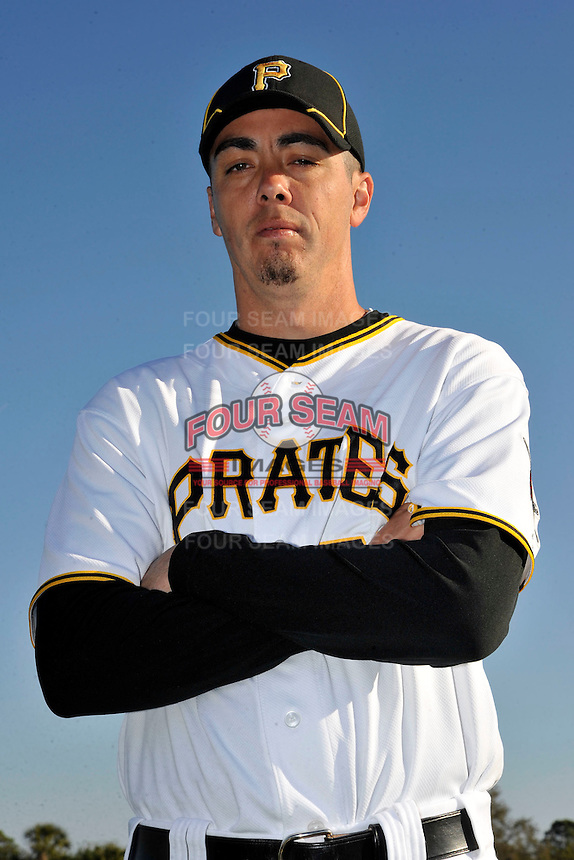 Feb 28, 2010; Bradenton, FL, USA; Pittsburgh Pirates  pitcher Jeff Karstens (27) during  photoday at Pirate City. Mandatory Credit: Tomasso De Rosa/ Four Seam Images