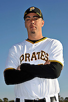 Feb 28, 2010; Bradenton, FL, USA; Pittsburgh Pirates  pitcher Jeff Karstens (27) during  photoday at Pirate City. Mandatory Credit: Tomasso De Rosa/ Four Seam Images
