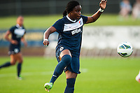 Sky Blue FC forward Danesha Adams (9). Sky Blue FC and FC Kansas City played to a 2-2 tie during a National Women's Soccer League (NWSL) match at Yurcak Field in Piscataway, NJ, on June 26, 2013.