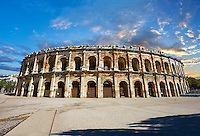 Arena of Nemes, a Roman Ampitheatre built around 70 AD during the reign of Emperor Augustus, Nimes, France