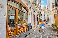 Spain, Costa Brava, Catalonia, Cadques. Street scenes.