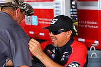 Aug 30, 2014; Clermont, IN, USA; NHRA funny car driver Cruz Pedregon during qualifying for the US Nationals at Lucas Oil Raceway. Mandatory Credit: Mark J. Rebilas-USA TODAY Sports