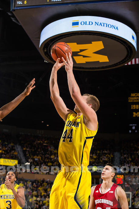 Michigan Men's Basketball loses to Wisconsin, 69-64, in overtime at Crisler Arena in Ann Arbor, MI, on Jan. 24, 2015.
