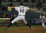 Aces starting pitcher Taylor Clarke throws during the 2019 opening day game between the Reno Aces and the Albuquerque Isotopes at Greater Nevada Field in Reno, Nevada on Tuesday, April 9, 2019.