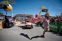 the publicity caravan rolling by<br /> <br /> Stage 5: Saint-Dié-des-Vosges to Colmar(175km)<br /> 106th Tour de France 2019 (2.UWT)<br /> <br /> ©kramon