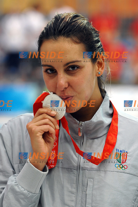 Alessia Filippi, Italia, medaglia d'argento 800 metri stile libero..NAtional Aquatics Centre - Nuoto.Pechino - Beijing 16/8/2008 Olimpiadi 2008 Olympic Games.Foto Andrea Staccioli Insidefoto
