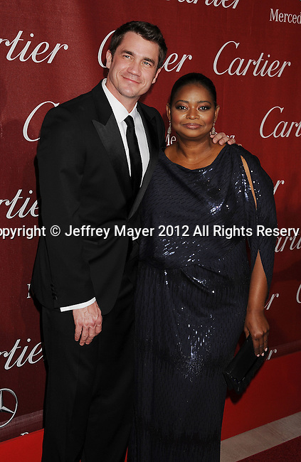 PALM SPRINGS, CA - JANUARY 07: Tate Taylor and Octavia Spencer arrive at the 2012 Palm Springs Film Festival Awards Gala at the Palm Springs Convention Center on January 7, 2012 in Palm Springs, California.