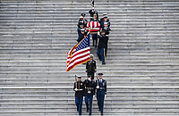 The remains of President George H.W. Bush are transported from the U.S. Capitol to the National Cathedral Wednesday December 5, 2018. <br /> CAP/MPI/RS<br /> &copy;RS/MPI/Capital Pictures