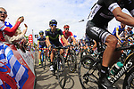 The peloton summit the Cat 3 climb of Cote d'Eschdorf during Stage 3 of the 104th edition of the Tour de France 2017, running 212.5km from Verviers, Belgium to Longwy, France. 3rd July 2017.<br /> Picture: Eoin Clarke | Cyclefile<br /> <br /> All photos usage must carry mandatory copyright credit (&copy; Cyclefile | Eoin Clarke)