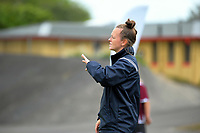 Auckland coach Gemma Lewis during the National Women's League football match between Central and Auckland at the Memorial Park in Palmerston North, New Zealand on Sunday, 5 November 2017. Photo: Dave Lintott / lintottphoto.co.nz