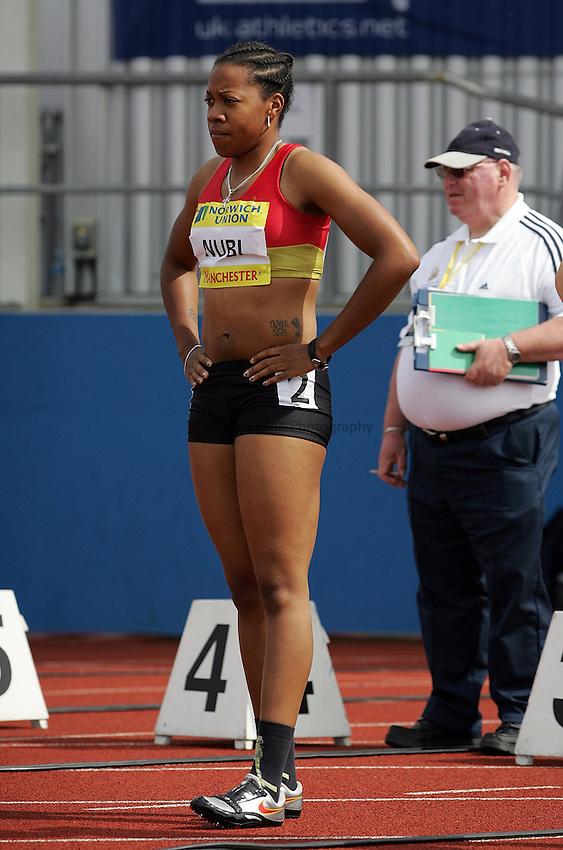 Photo: Paul Thomas/Richard Lane Photography..Norwich Union World Trials and AAA Championships. 28/07/2007...Tunrayo Nubi during the women's 100m.
