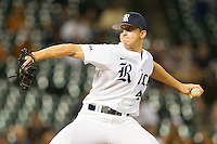 Rice Owls relief pitcher Brad Kottman #42 in action against the Texas Longhorns at Minute Maid Park on March 2, 2012 in Houston, Texas.  The Longhorns defeated the Owls 11-8.  (Brian Westerholt/Four Seam Images)