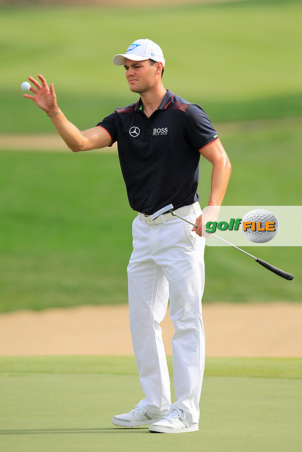 Martin Kaymer (GER) on the 8th green during Sunday's Final Round of the Abu Dhabi HSBC Golf Championship 2015 held at the Abu Dhabi Golf Course, United Arab Emirates. 18th January 2015.<br /> Picture: Eoin Clarke www.golffile.ie