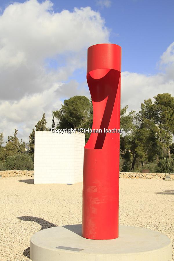 Jerusalem, Israel Museum, Queen, painted iron, by Michael Gross at the Billy Roze Art Garden