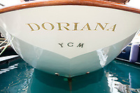 Yacht 'Doriana', Port Hercules, Monaco, 19 April 2012. The yacht is owned by Mikael Krafft, founder and president of Star Clippers.