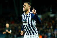 25th February 2020; The Hawthorns, West Bromwich, West Midlands, England; English Championship Football, West Bromwich Albion versus Preston North End; Hal Robson-Kanu of West Bromwich Albion celebrates his opening goal after five minutes for 1-0