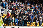 St Johnstone v St Mirren....21.03.15<br /> Sainst fans celebrate Brian Graham's goal<br /> Picture by Graeme Hart.<br /> Copyright Perthshire Picture Agency<br /> Tel: 01738 623350  Mobile: 07990 594431