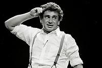 Michel Boujenah<br /> au Festival Juste Pour Rire, 10 juillet 1987<br /> <br /> Photo : pierre Roussel - AQP