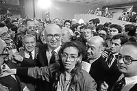 - Milano, XXXV congresso del PRI, Partito Repubblicano Italiano, il segretario Giovanni Spadolini (Aprile 1984)<br /> <br /> - Milan, XXXV Congress of the PRI, Italian Republican Party,  the Secretary Giovanni Spadolini (April 1984)