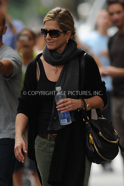 WWW.ACEPIXS.COM . . . . . .September 30, 2011...New York City...  Jennifer Aniston walking in the West Village on September 30, 2011 in New York City....Please byline: KRISTIN CALLAHAN - ACEPIXS.COM.. . . . . . ..Ace Pictures, Inc: ..tel: (212) 243 8787 or (646) 769 0430..e-mail: info@acepixs.com..web: http://www.acepixs.com .