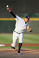 Empire State Yankees starting pitcher Dellin Betances #32 during a game against the Toledo Mudhens at Frontier Field on May 30, 2012 in Rochester, New York.  Empire State defeated Toledo 5-2.  (Mike Janes/Four Seam Images)