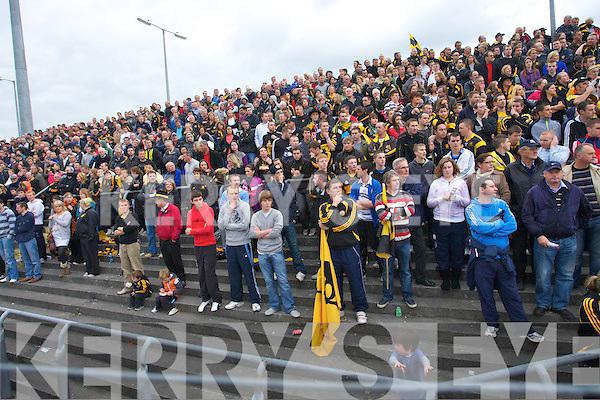 Dejected Austin Stacks supporters during the County Championship Semi-final at Austin Stack park on Sunday.