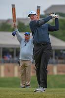 Ernie Els (RSA) watches his tee shot on 11 during Round 2 of the Valero Texas Open, AT&T Oaks Course, TPC San Antonio, San Antonio, Texas, USA. 4/20/2018.<br /> Picture: Golffile | Ken Murray<br /> <br /> <br /> All photo usage must carry mandatory copyright credit (© Golffile | Ken Murray)