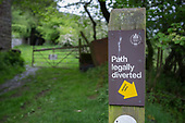 Diversion sign for public right of way, Ewyas Valley, Wales