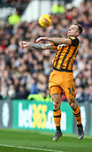 9th February 2019, Pride Park, Derby, England; EFL Championship football, Derby Country versus Hull City; Kamil Grosicki of Hull City controls the ball with his chest