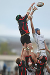 Robert Sidoli and Kevin McLaughlin compete for the lineout ball..RaboDirect Pro 12.Newport Gwent Dragons v Leinster..05.05.12.©Steve Pope-Sportingwales