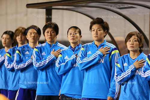 Japan team group (JPN), <br /> MAY 6, 2014 - Football /Soccer :  <br /> International friendly match<br /> between Japan 2-1 New Zealand <br /> at Kincho Stadium, Osaka, Japan. (Photo by Yohei Osada/AFLO SPORT)