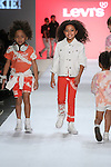 Model walks ruwnay in outfit from the Levi's Fall 2017 kids collection, during the Rookie USA Fall 2017 kidswear fashion show, presented by Haddad Brands at NYFW: The Shows Fall 2017 at Skylight Clarkson Square on February 15, 2017.