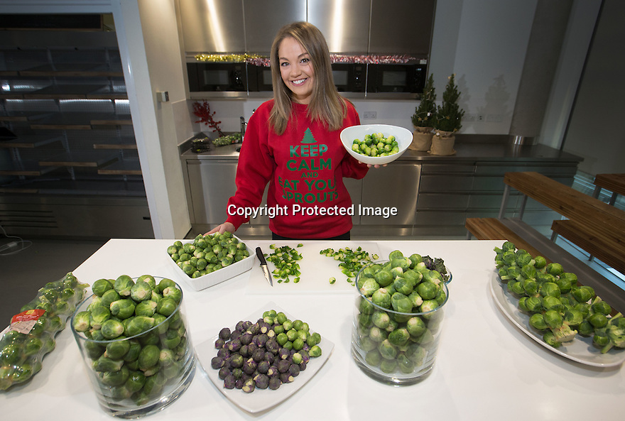 19/12/16<br /> <br /> Erica Molyneaux, M&S Vegetable Product Developer, who has scoffed 30,000 sprouts in three years. M&S expects to sell 30 million sprouts over the festive season.<br /> <br /> <br /> All Rights Reserved F Stop Press Ltd. +44 (0)1773 550665