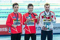 YANG Jian CHN CHINA Gold Medal, YANG Hao CHN CHINA Silver Medal, BONDAR Aleksandr RUS RUSSIA Bronze Medal<br /> Gwangju South Korea 20/07/2019<br /> Diving Men's 10m Platform Final<br /> 18th FINA World Aquatics Championships<br /> Nambu University Aquatics Center <br /> Photo © Andrea Staccioli / Deepbluemedia / Insidefoto