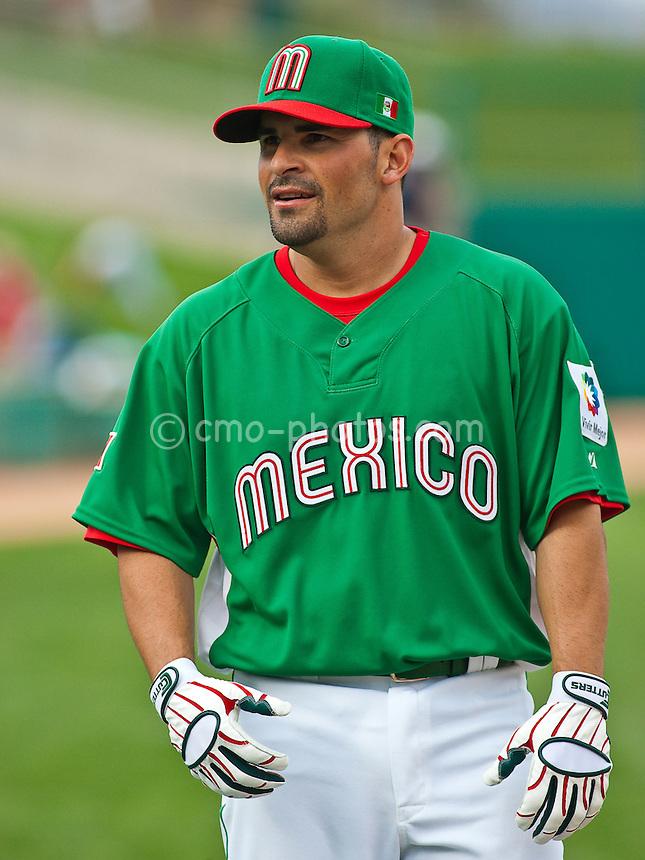 Mar 4, 2009; Tucson, AZ, USA; Mexico infielder Augie Ojeda prior to an exhibition game against the Arizona Diamondbacks at Tucson Electric Park.