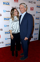 """STUDIO CITY, CA - NOVEMBER 6: (L-R) Maria Bello and Mark Harmon attend the TV Guide Magazine Cover Party for Mark Harmon and 15 seasons of the CBS show """"NCIS"""" at River Rock at Sportsmen's Lodge on November 6, 2017 in Studio City, California. (Photo by JC Olivera/PictureGroup)"""