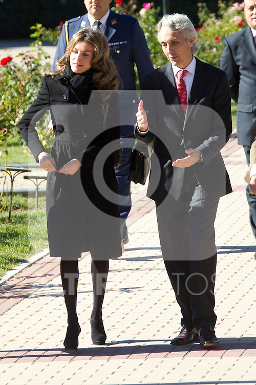 "Madrid Princess Letizia attended the eighth edition of the ""Sustainable City Awards"" at the rose garden pavilion in Madrid on october 18th 2010...Photo: Cesar Cebolla / ALFAQUI"