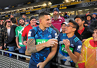 Sonny Bill Williams mingles with fans after the 2017 DHL Lions Series rugby union match between the Blues and British & Irish Lions at Eden Park in Auckland, New Zealand on Wednesday, 7 June 2017. Photo: Dave Lintott / lintottphoto.co.nz