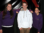 Beat Boxer Jake Cunningham pictured with Shauna McDonald and  Taylor Bargh who took part in the DanzeMania show in Ardee parish centre. Photo: Colin Bell/pressphotos.ie