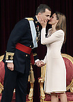 Coronation ceremony in Madrid. King Felipe VI of Spain and Queen Letizia of Spain at Congreso de los Diputados. June 19 ,2014. (ALTERPHOTOS/EFE/Pool)