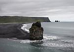 le 17 aout 2013, Plage de Sable noir à Vik en islande. the 17th august 2013, black sand beach at Vik In iceland.