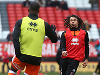 Blackpool's Nya Kirby during the pre-match warm-up <br /> <br /> Photographer David Shipman/CameraSport<br /> <br /> The EFL Sky Bet League One - Charlton Athletic v Blackpool - Saturday 16th February 2019 - The Valley - London<br /> <br /> World Copyright © 2019 CameraSport. All rights reserved. 43 Linden Ave. Countesthorpe. Leicester. England. LE8 5PG - Tel: +44 (0) 116 277 4147 - admin@camerasport.com - www.camerasport.com