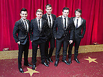 © Licensed to London News Pictures . 16/05/2015 .  The Palace Hotel , Manchester , UK . Boy band COLLABRO who are giving an award . The red carpet at the 2015 British Soap Awards , The Palace Hotel , Oxford Road , Manchester . Photo credit : Joel Goodman/LNP