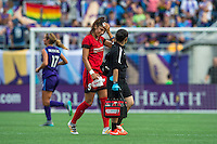 Orlando, FL - Sunday June 26, 2016: Nadia Nadim, Trainer  during a regular season National Women's Soccer League (NWSL) match between the Orlando Pride and the Portland Thorns FC at Camping World Stadium.