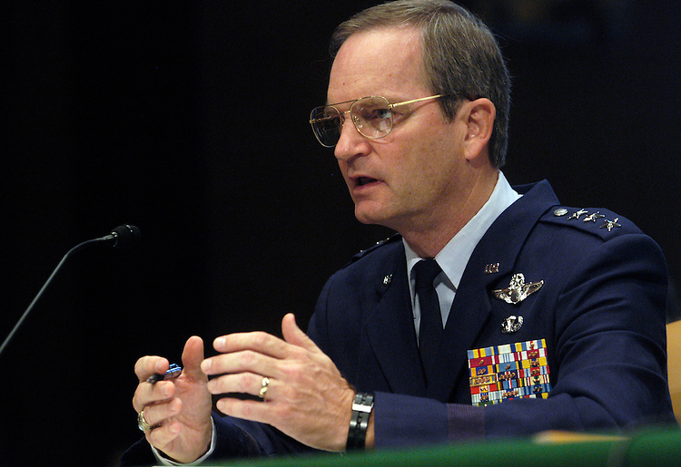 Lt. Gen. Randall Schmidt, senior investigating officer, testifies at a full Armed Services Committee hearing on FBI allegations of detainee abuse at Guantanamo Bay, Cuba detention facility. .