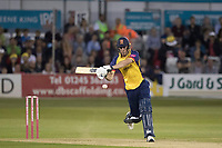 Dan Lawrence of Essex CCC on the charge during Essex Eagles vs Somerset, Vitality Blast T20 Cricket at The Cloudfm County Ground on 7th August 2019