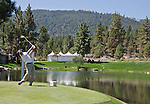 August 3, 2012: Rich Beem from Austin, Texas tees off on the 14th hole during the second round of the 2012 Reno-Tahoe Open Golf Tournament at Montreux Golf & Country Club in Reno, Nevada.