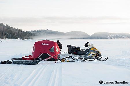 Icefishing scenic