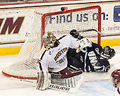 Parker Milner (BC - 35), Nick Sorkin (UNH - 21) - The Boston College Eagles and University of New Hampshire Wildcats tied 4-4 on Sunday, February 17, 2013, at Kelley Rink in Conte Forum in Chestnut Hill, Massachusetts.